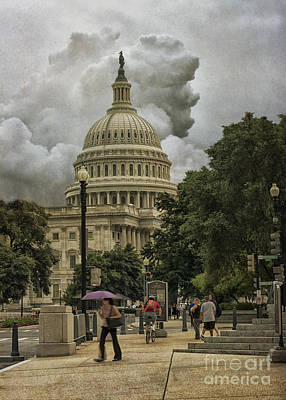 Photograph - Capitol Storm by Terry Rowe