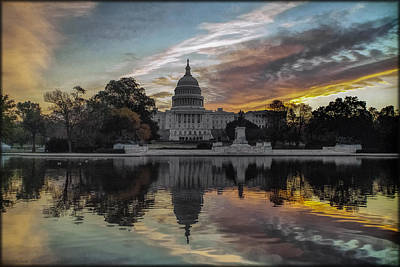 Photograph - Capitol Sunrise by Erika Fawcett
