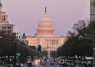 Photograph - Capitol Sunset by Deborah Smolinske
