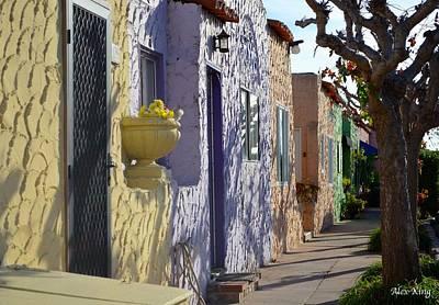 Capitola Beach Homes Art Print by Alex King
