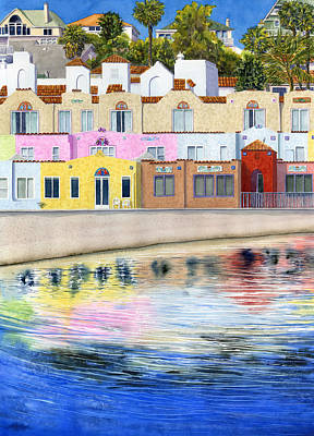 Lodging Painting - Capitola Venetian by Karen Wright