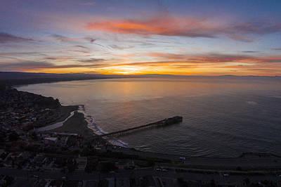 Santa Cruz Wharf Photograph - Capitola Wharf Sunrise by David Levy