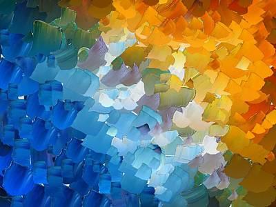 Pallet Knife Digital Art - Capixart Abstract 110 by Chris Axford