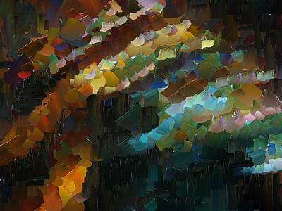 Pallet Knife Digital Art - Capixart Abstract 74 by Chris Axford