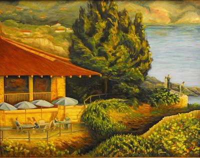 Italian Wine Painting - Capo Vaticano by Chris Skinner