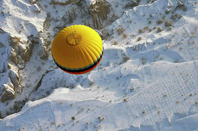 Hot Air Balloon Photograph - Cappadocia & Balloon by Sedat Buga