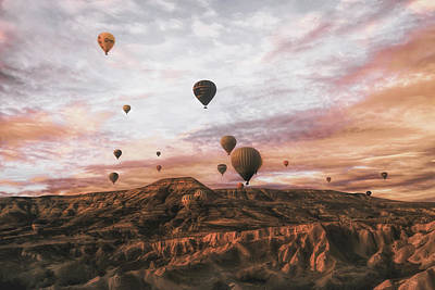 Hot Air Balloon Photograph - Cappodocia Hot Air Balloon by Ayse  Yorgancilar