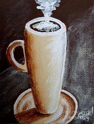 Espresso Painting - Cappuccino 1 by Christine Huwer