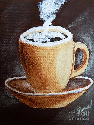 Espresso Painting - Cappuccino 2 by Christine Huwer