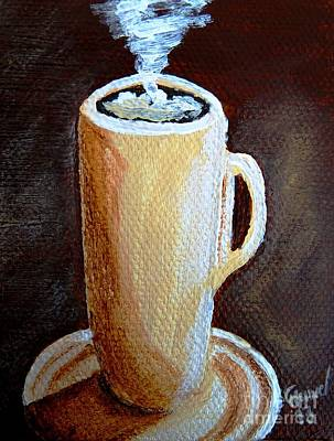 Espresso Painting - Cappuccino 3 by Christine Huwer