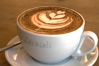 Photograph - Cappuccino Art by Shirley Mitchell