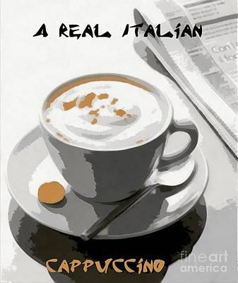 Cappuccino Art Print by Dragica  Micki Fortuna