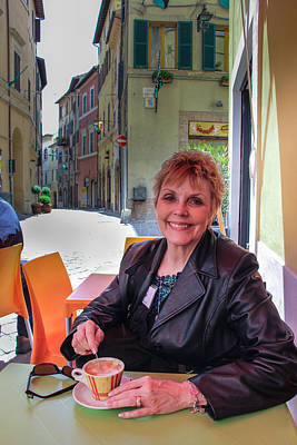 Photograph - Cappuccino In Camerino - May 29 by Dwight Theall