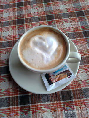 Photograph - Cappuccino Love by Ausra Huntington nee Paulauskaite