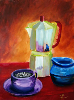 Painting - Cappuccino Morning by Keith Thue