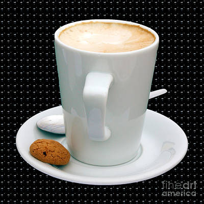 Photograph - Cappuccino With An Amaretti Biscuit by Terri Waters