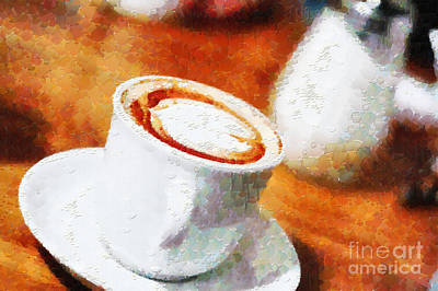 Focus On Foreground Painting - Cappuchino Painting by Magomed Magomedagaev