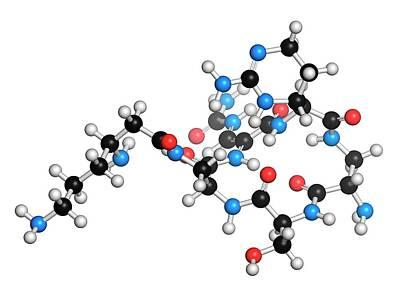 Capreomycin Antibiotic Drug Molecule Art Print by Molekuul
