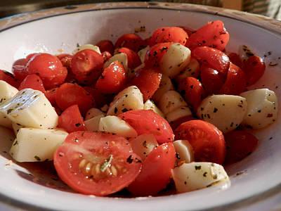 Photograph - Caprese Salad by Grace Dillon