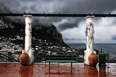 Photograph - Capri Rainy Belvedere by Enrico Pelos