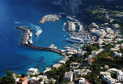 Capri Town Art Print