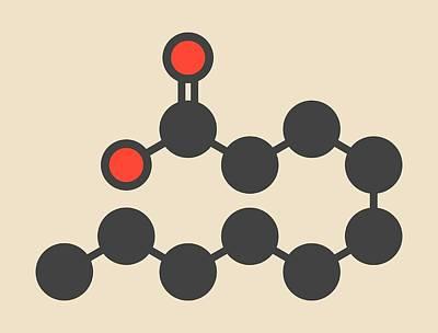 Capric Acid Molecule Art Print