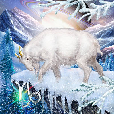 Mountain Goat Digital Art - Capricorn by Ciro Marchetti
