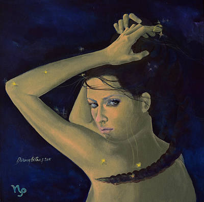 Capricorn From Zodiac Series Art Print by Dorina  Costras