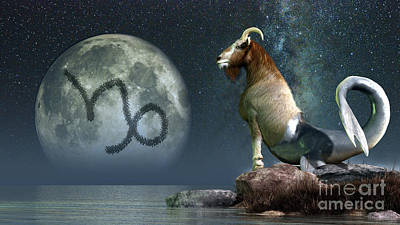 Capricorn Is The Tenth Astrological Art Print