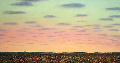 West Texas Painting - Caprock Sunrise by James W Johnson