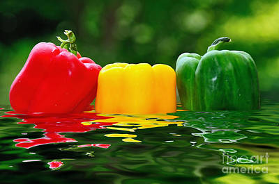 Photograph - Capsicum In Water by Kaye Menner