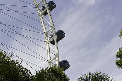 Capsules And Structure Of The Singapore Flyer Along With The Spokes Art Print