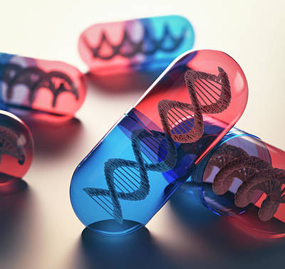 Capsules With Dna Art Print by Ktsdesign