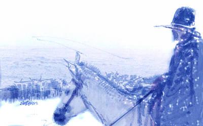 Capt. Call In A Snow Storm Art Print