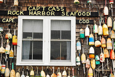 Capt Cass Rock Harbor Art Print by James Kirkikis