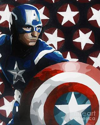 Captain America Original by Ellen Nicole Allen