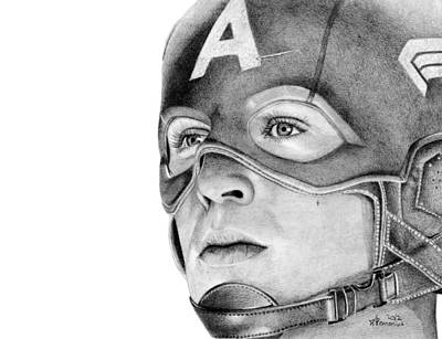 Captain America Drawing - Captain America by Kayleigh Semeniuk