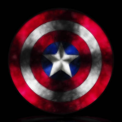 Captain America Shield Digital Painting Original