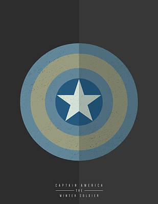 Art Print featuring the digital art Captain America Winter Soldier by Mike Taylor