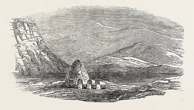 Austin Drawing - Captain Austins Arctic Expedition Cairn Left By The North by English School