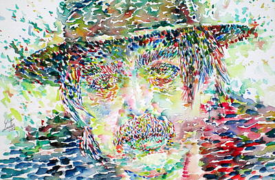 Captain Beefheart Painting - Captain Beefheart Watercolor Portrait.1 by Fabrizio Cassetta