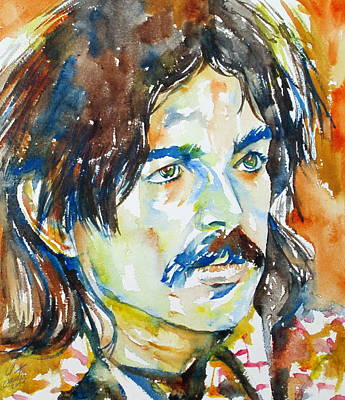 Captain Beefheart Painting - Captain Beefheart Watercolor Portrait.4 by Fabrizio Cassetta