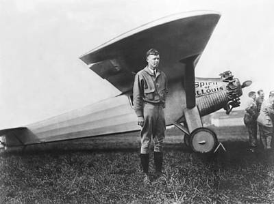 Captain Charles Lindbergh Art Print by Underwood Archives