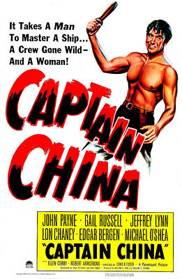 1950s Movies Photograph - Captain China, Us Poster, John Payne by Everett
