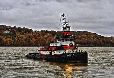 Hudson River Tugboat Photograph - Captain D by Steven Brooks