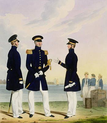 Uniforms Drawing - Captain Flag Officer And Commander by Eschauzier and Mansion