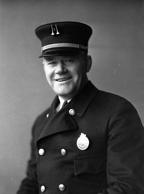 Fire Department Photograph - Captain Frank Riley by Retro Images Archive
