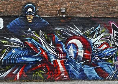 Super Hero Photograph - Captain Graffiti by Frozen in Time Fine Art Photography