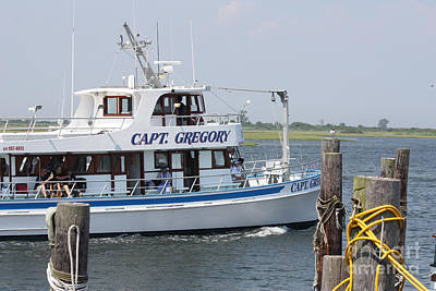Photograph - Captain Gregory Fishing Boat Leaving Captree by John Telfer