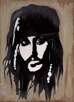 Captain Jack Sparrow Painting - Captain Jack by Chyenne DeWitt
